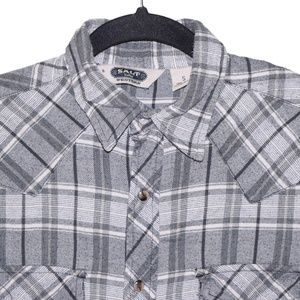 Salt Valley Western Small Blue White Plaid